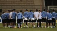 من تدريبات منتخب الأوروغواي