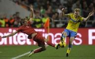 كوينتراو في المباراة أمام السويد
