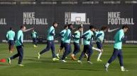من تدريبات برشلونة استعدادا لبلباو