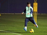 ميسي في تدريبات برشلونة