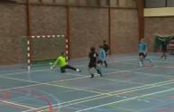 لقطة للاعب ناشئ  في المباراة