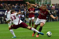 من مباراة ميلان وليفورنو