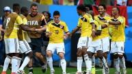 فرحة الكولومبيين بهدف جيمس رودريجيز