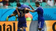 فرحة لاعبو البوسنة بأحد أهدافهم