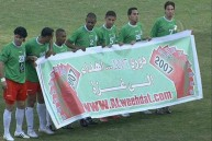 تضامن لاعبي الوحدات مع غزة في 2007