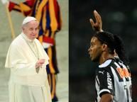رونالدينهو وبابا الفاتيكان