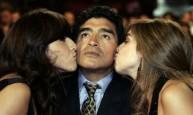 مارادونا مع ابنته