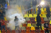 اعمال الشغب خلال مباراة رومانيا والمجر