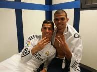 بيبي مع رونالدو بعد المباراة