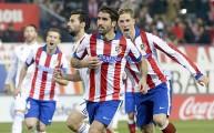 نجوم أتلتيكو خلال مواجهة ريال مدريد