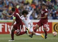 جانب من مباراة قطر والإمارات