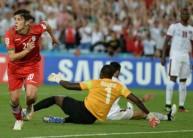 من مباراة قطر وإيران