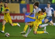جانب من مباراة رومانيا وجزر فارو