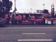 صورة الإحتجاجات ضد بلاتر خارج الفيفا