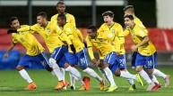 فرحة لاعبي البرازيل