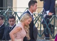 رونالدو في حفل الزفاف