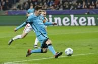 من مباراة برشلونة وبايرن ليفركوزن