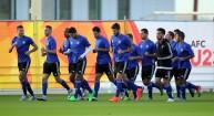 تدريبات المنتخب الأولمبي في قطر
