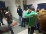قوات الاحتلال تطلق قنابل الغاز على ملعب