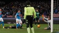 لقطة من مباراة نابولي وساسولو