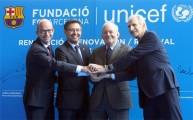 برشلونة يجدد تعاونه مع اليونيسيف