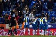 فرحة لاعبي اسبانيول