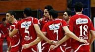 لاعبو الأهلي المصري لكرة الطائرة