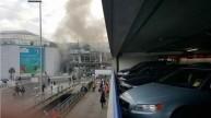 مطار بروكسل بعد التفجيرات