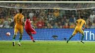 لقطة من مباراة الأردن وأستراليا